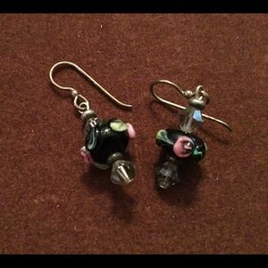 Hand painted dangle earrings